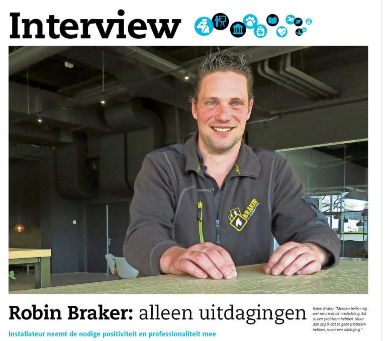 Robin Braker: alleen uitdagingen